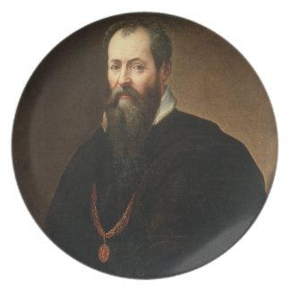 Self Portrait, 1566-68 (oil on canvas) Melamine Plate