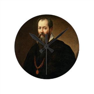 Self Portrait, 1566-68 (oil on canvas) Round Clock