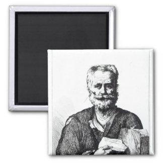 Self portrait, 1729 2 inch square magnet