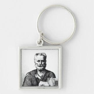 Self portrait, 1729 Silver-Colored square keychain