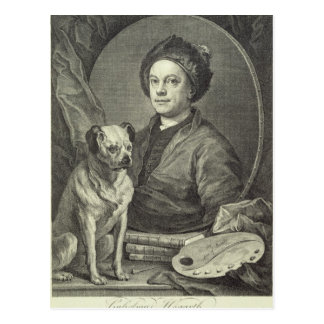 Self Portrait, 1749 Postcard
