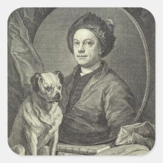 Self Portrait, 1749 Square Sticker