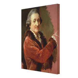Self Portrait, 1773-87 (oil on canvas) Gallery Wrapped Canvas