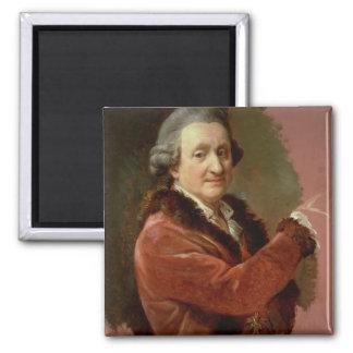 Self Portrait, 1773-87 (oil on canvas) 2 Inch Square Magnet