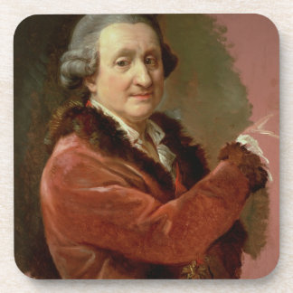 Self Portrait, 1773-87 (oil on canvas) Beverage Coasters