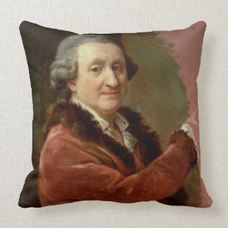 Self Portrait, 1773-87 (oil on canvas) Throw Pillow
