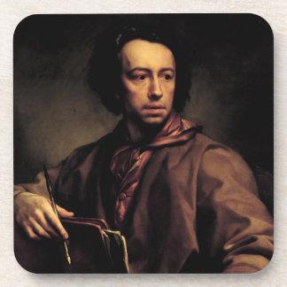 Self Portrait, 1773 (oil on panel) Beverage Coaster