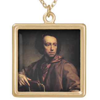 Self Portrait, 1773 (oil on panel) Gold Plated Necklace