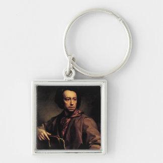 Self Portrait, 1773 (oil on panel) Keychain