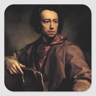 Self Portrait, 1773 (oil on panel) Square Sticker