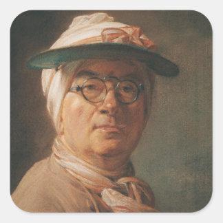Self Portrait, 1775 Square Sticker