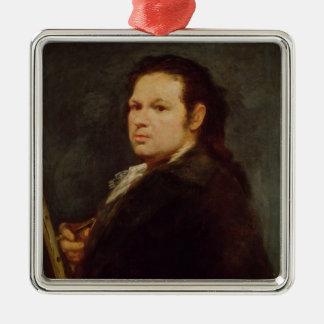 Self portrait, 1783 metal ornament
