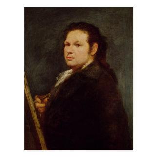 Self portrait, 1783 postcard