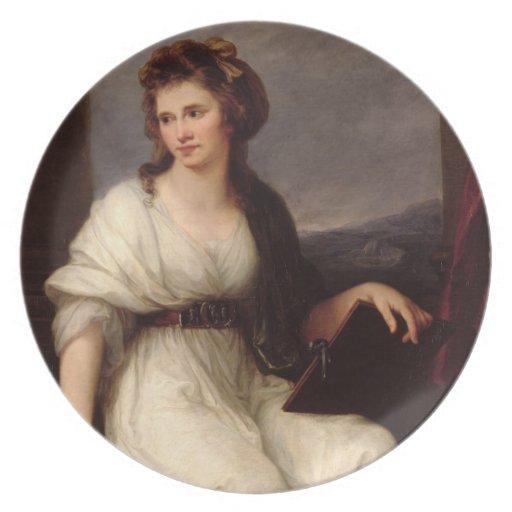 Self Portrait, 1787 (oil on canvas) Dinner Plate