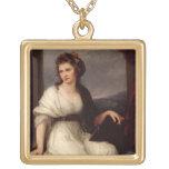 Self Portrait, 1787 (oil on canvas) Square Pendant Necklace