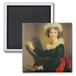 Self Portrait, 1790 (oil on canvas) 2 Inch Square Magnet
