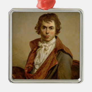 Self Portrait, 1794 Square Metal Christmas Ornament