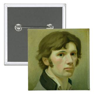 Self-portrait, 1802 2 inch square button