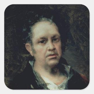 Self Portrait, 1815 Square Sticker