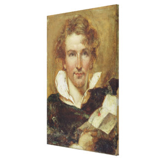 Self Portrait, 1823 (oil on paper on panel) Canvas Print