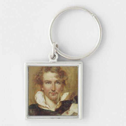 Self Portrait, 1823 (oil on paper on panel) Key Chain