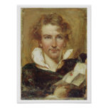 Self Portrait, 1823 (oil on paper on panel) Print