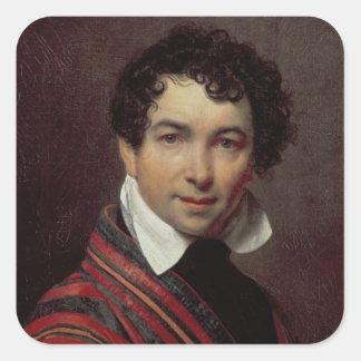 Self Portrait, 1828 Square Sticker