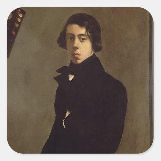 Self Portrait, 1835 Square Sticker