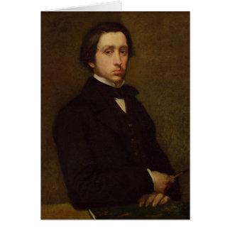Self portrait, 1855 card