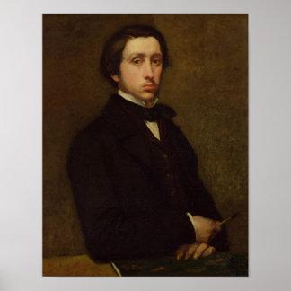 Self portrait, 1855 poster