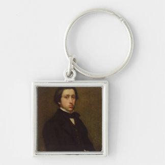 Self portrait, 1855 Silver-Colored square keychain