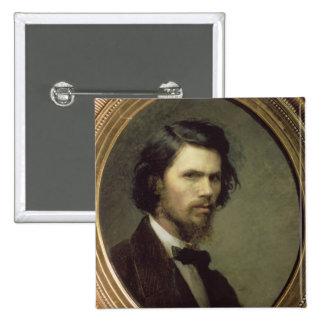 Self Portrait, 1867 2 Inch Square Button