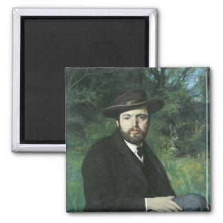Self Portrait, 1871 2 Inch Square Magnet