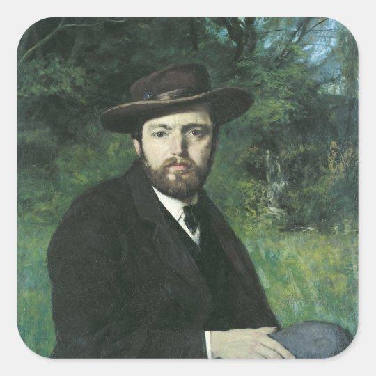 Self Portrait, 1871 Square Sticker