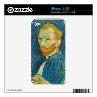 Self-Portrait, 1889 (oil on canvas) Decals For The iPhone 4S