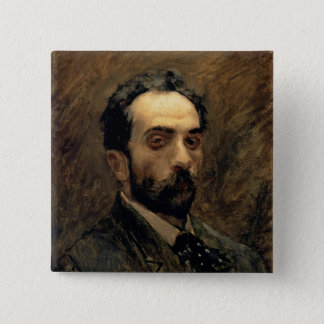 Self Portrait, 1890s Pinback Button
