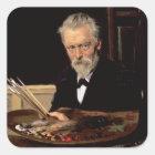 Self portrait, 1905 square sticker