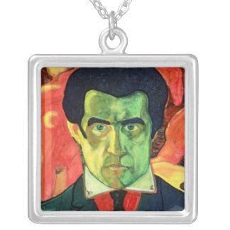 Self Portrait, 1908 Silver Plated Necklace
