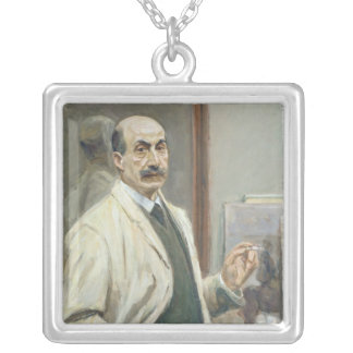 Self Portrait, 1910 Silver Plated Necklace