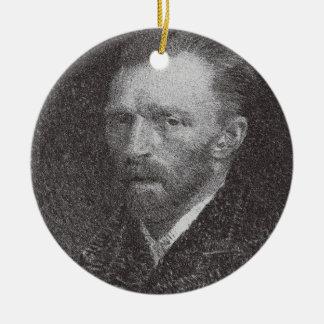 Self-portrait 2 ceramic ornament