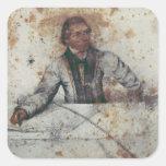 Self Portrait 4 Square Stickers