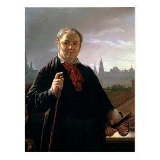 Self Portrait against the Window Postcard