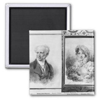 Self portrait and portrait of Princess Fridge Magnet