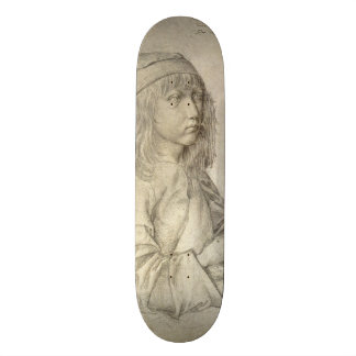 Self Portrait at Age 13 by Albrecht Durer Skateboard Deck