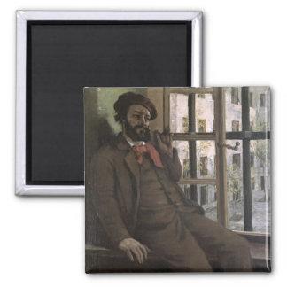 Self Portrait at Sainte-Pelagie, 1871 2 Inch Square Magnet