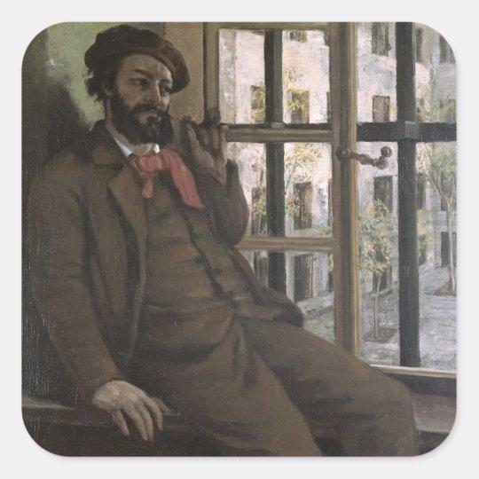 Self Portrait at Sainte-Pelagie, 1871 Square Sticker