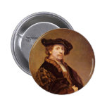 Self Portrait At The Age Of 33 By Rembrandt Pinback Buttons