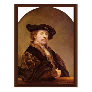 Self Portrait At The Age Of 33 By Rembrandt Postcard