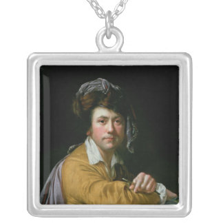 Self Portrait at the age of about Forty, c.1772-3 Silver Plated Necklace