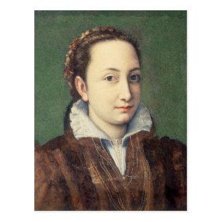 Self portrait, attired as maid-of-honour postcard